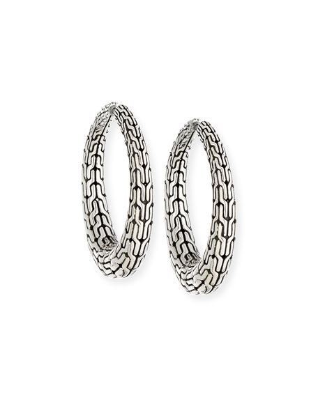 John Hardy Classic Chain Hinged Hoop Earrings