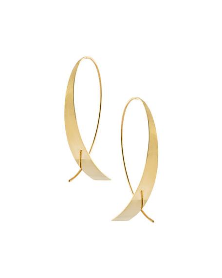 LANA Bond Small Vanity Glam Upside Down Hoop Earrings