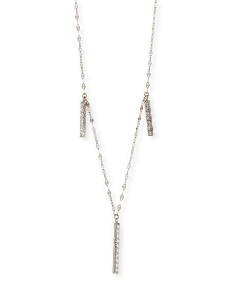 LANA Diamond Bar Necklace in 14K White Gold