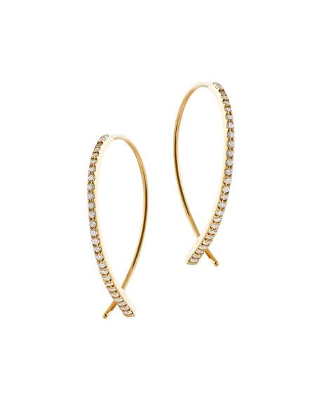 LANA Flawless Vol 6 Upside Down Diamond Hoop Earrings