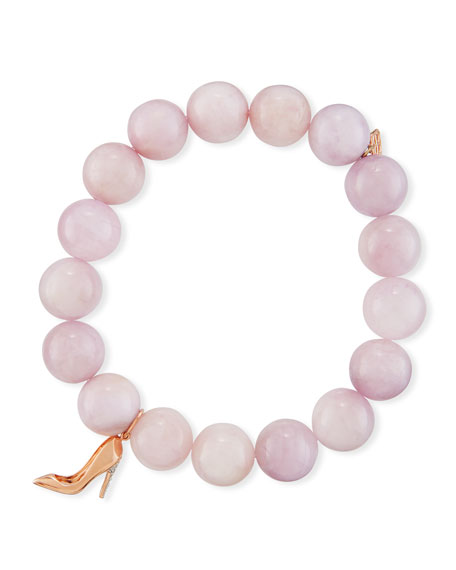 Sydney Evan 10mm Kunzite Beaded Bracelet with Diamond