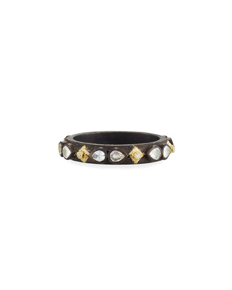 Armenta Old World Midnight Crivelli Stacking Band Ring