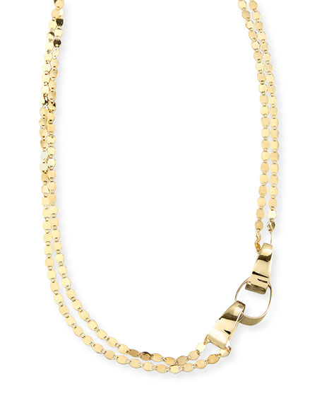 Nude Gloss Layered Link Necklace