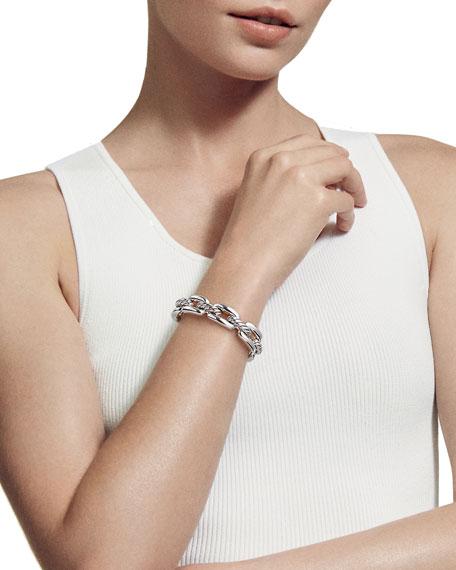 David Yurman Wellesley Sterling Silver Link Cuff Bracelet