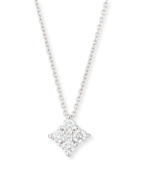 Roberto Coin Diamond Flower Pendant Necklace in 18K