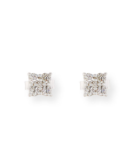 Roberto Coin Prong-Set Diamond Flower Earrings