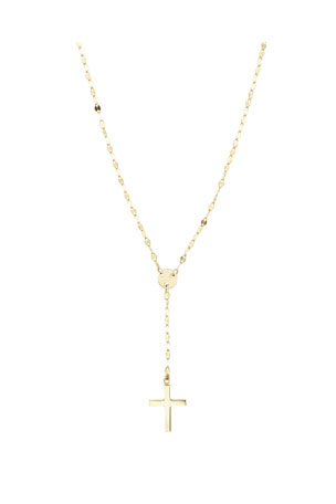 LANA GIRL BY LANA JEWELRY Girls' Mini Cross Pendant Necklace