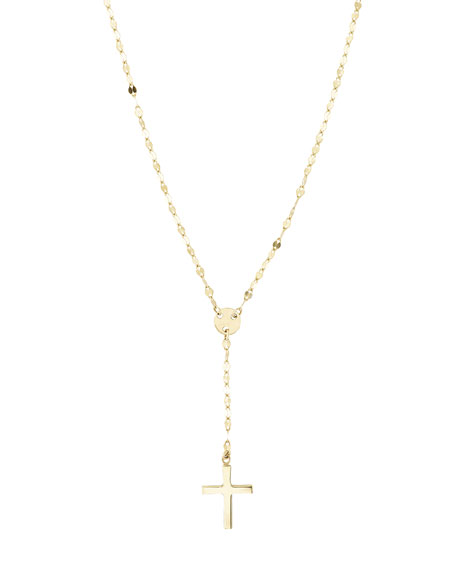 Girls' Mini Cross Pendant Necklace in Gold