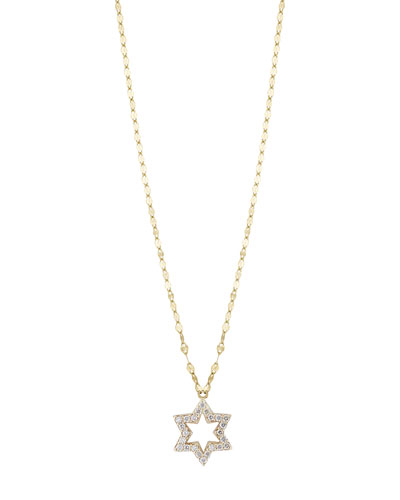 Girls' Diamond Star Charm Necklace