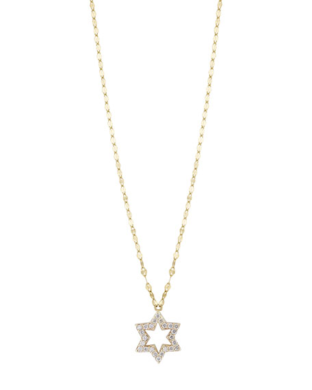 LANA GIRL Girls' Diamond Star Charm Necklace in Gold
