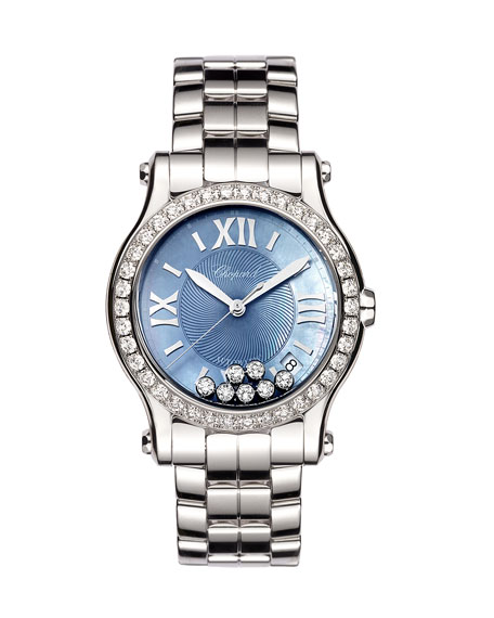 Chopard 36mm Happy Sport Automatic Bracelet Watch with