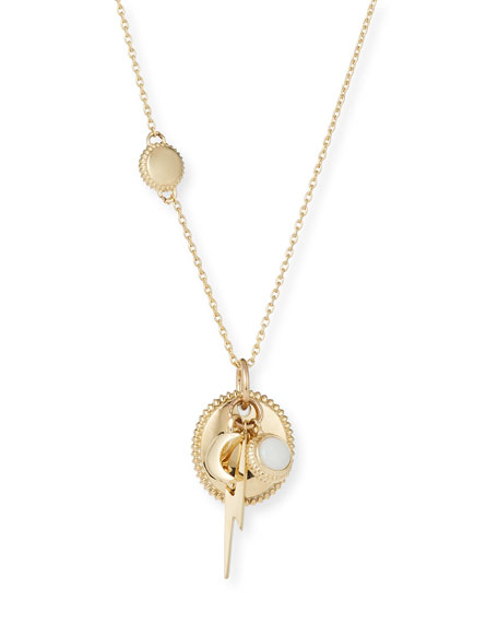 Shinola Jewelry Bolt Cluster Necklace in 14K Gold