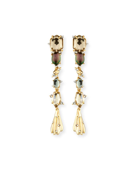 Alexis Bittar Crystal Studded Dangling Drop Earrings