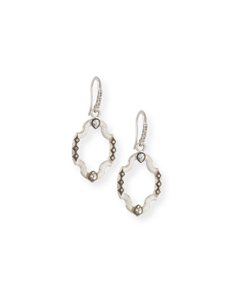 Armenta New World Open Shield Earrings with Diamonds