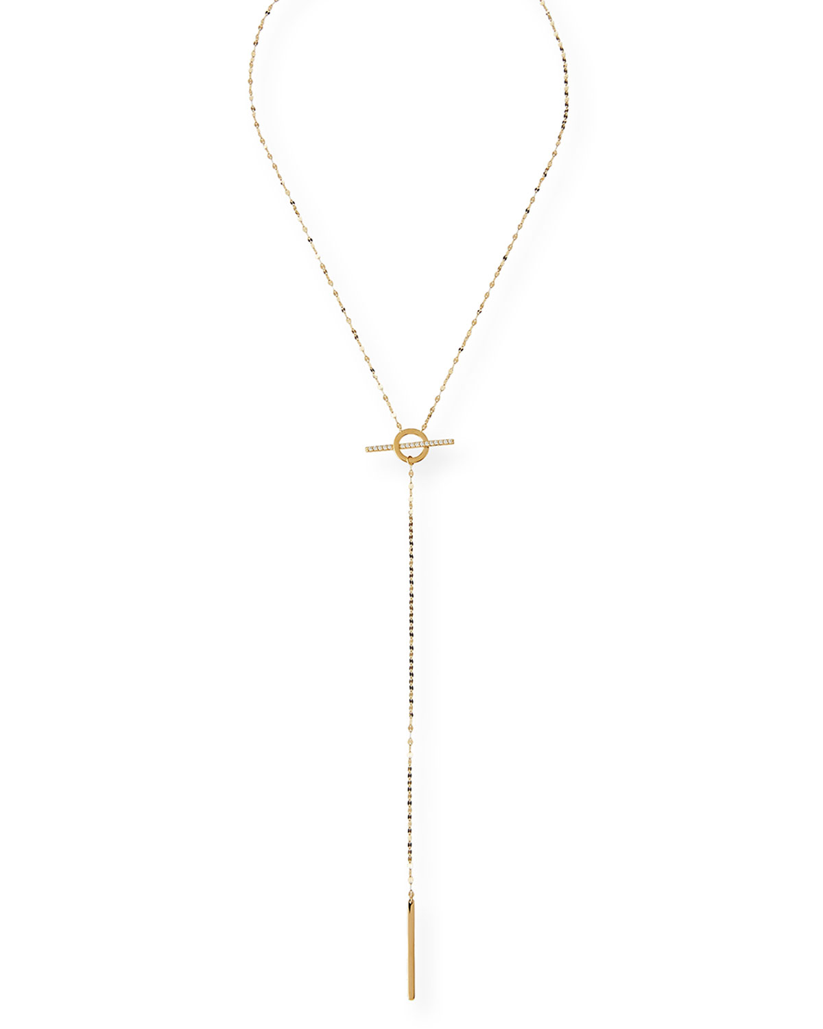 Lana Jewelry 14k Gold Chime Lariat Necklace, 17L