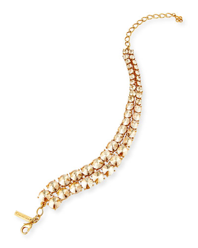 Tendril Double-Row Crystal Choker Necklace