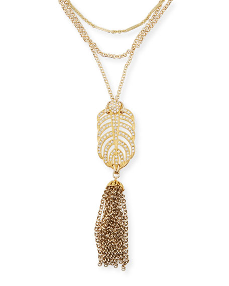 Drift Crystal Tassel Necklace