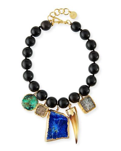 Beaded Multi-Pendant Necklace