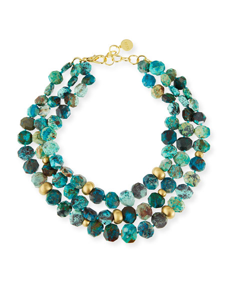 Chrysocolla Multi-Strand Necklace