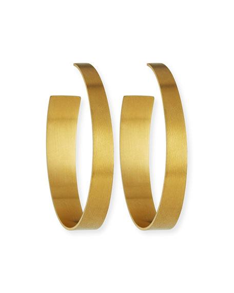 NEST Jewelry Satin-Finish Hoop Earrings