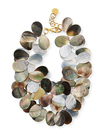 NEST Jewelry Mother-of-Pearl Petal Cluster Necklace