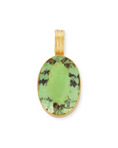 Green Amethyst Oval Enhancer
