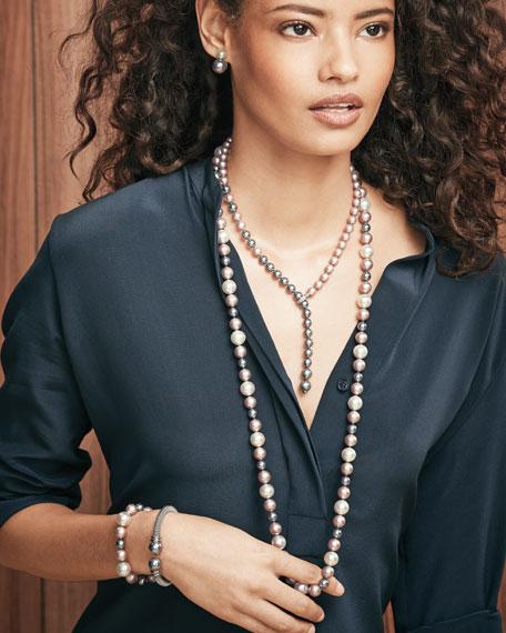 Gradient Pearl Lariat Necklace