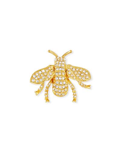 Pavé Crystal Bug Pin