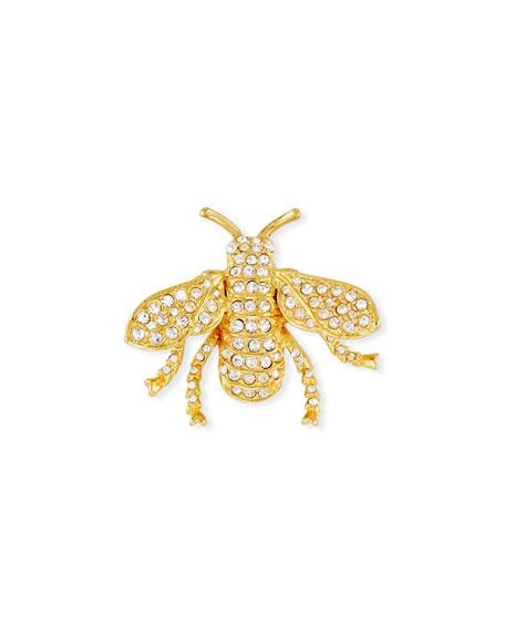 Kenneth Jay Lane Pavé Crystal Bug Pin
