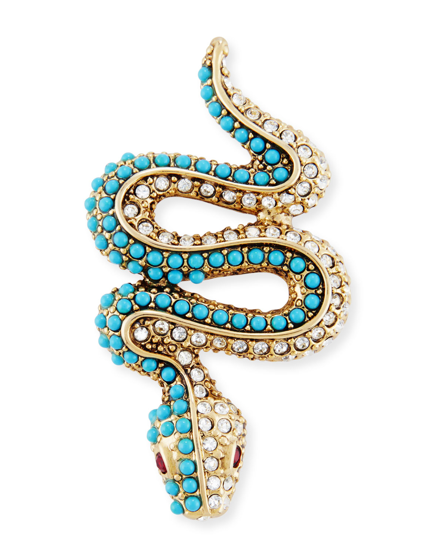 Kenneth Jay Lane Segmented Pave Crystal Snake Pin gxmplhk