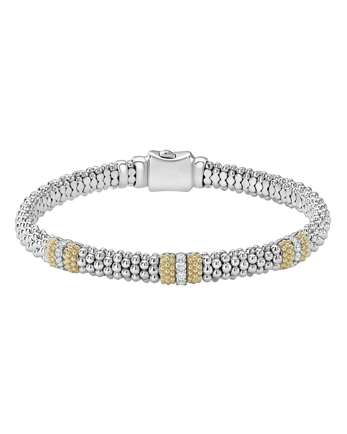 Lagos 6mm Diamond Lux Three-Station Bracelet BXfb8K