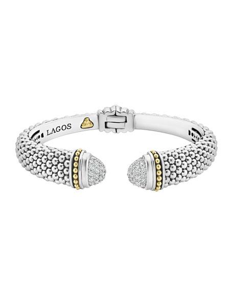 Lagos 12mm Caviar Cuff Bracelet