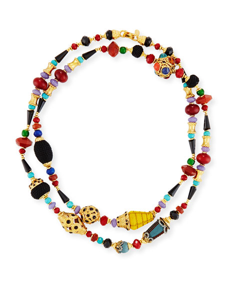 Jose & Maria Barrera Long Beaded Single-Strand Necklace