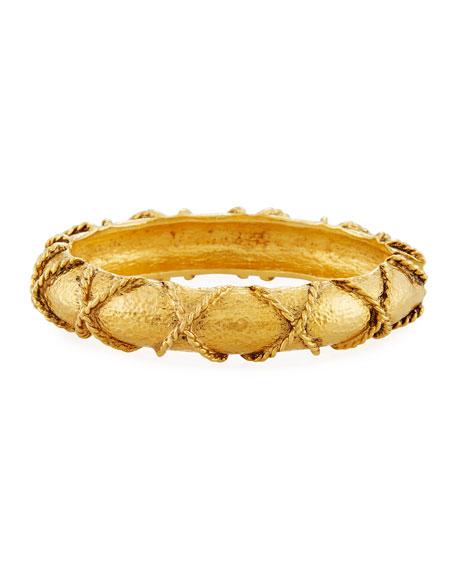 Jose & Maria Barrera Rope-Wrapped Bangle Bracelet