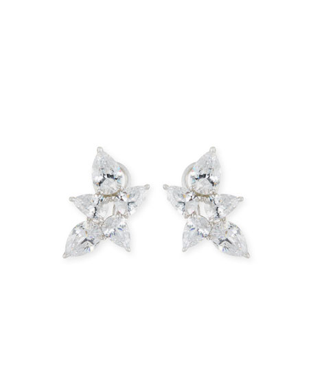 Fantasia Pear-Shaped CZ Cluster Earrings IM30Ib
