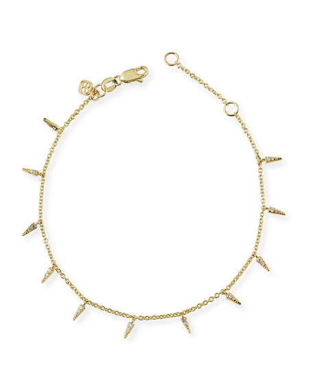 Fringe Charm Bracelet with Diamonds
