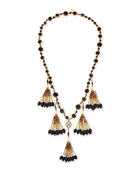 Devon Leigh Copper-Infused Onyx Coin Necklace