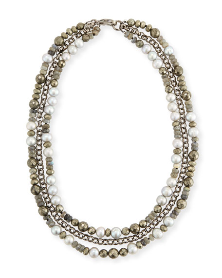 Hipchik Brie Three-Strand Beaded Necklace