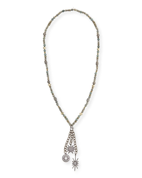 HIPCHIK GWEN BEADED CHARM NECKLACE