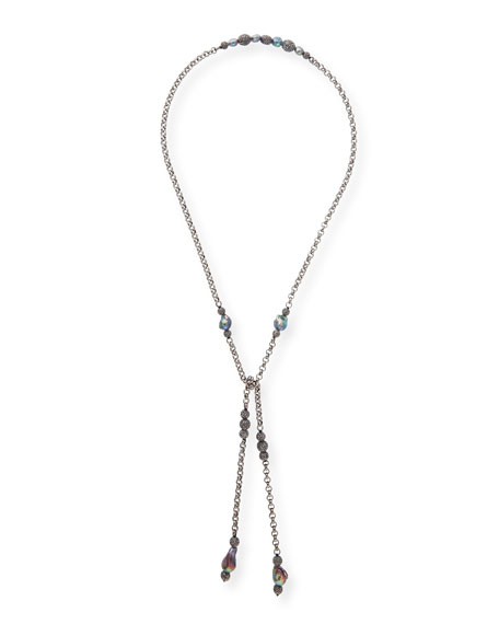 Johhna Pearl & Labradorite Chain Necklace