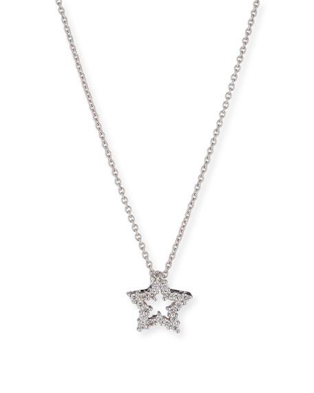 Roberto coin diamond star pendant necklace in 18k white gold diamond star pendant necklace in 18k white gold aloadofball Images