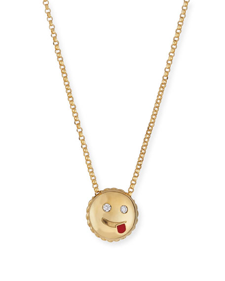 Roberto Coin Cheeky Emoji Pendant Necklace with Diamonds