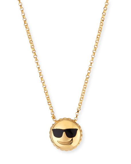 Roberto Coin Cool Sunglasses Emoji Pendant Necklace