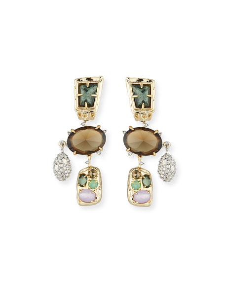 Alexis Bittar Rocky Chandelier Clip-On Earrings