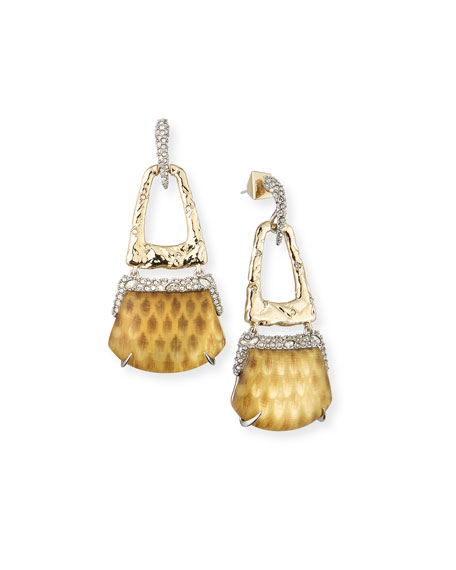 Alexis Bittar Rocky Buckle Swing Earrings