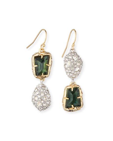 Alexis Bittar Mismatched Double-Drop Earrings
