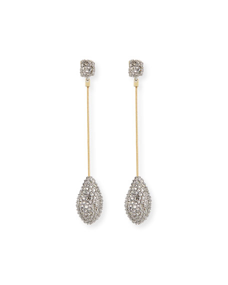 Pavé Teardrop Earrings