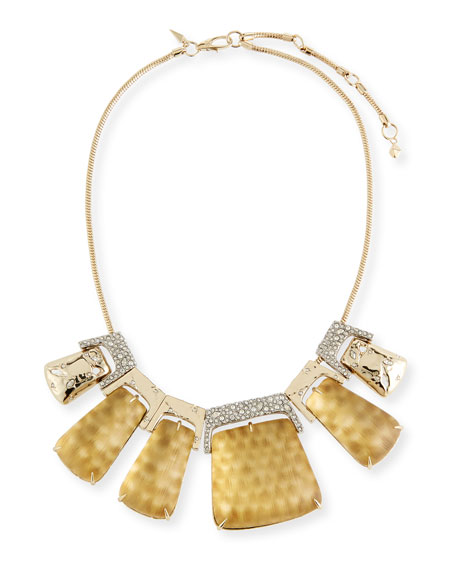 Alexis Bittar Rocky Metallic Large Statement Necklace