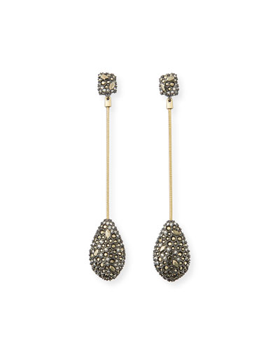 Pavé Crystal Teardrop Earrings
