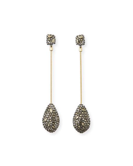 Alexis Bittar Pavé Crystal Teardrop Earrings